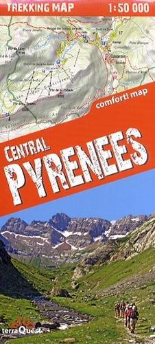 Pirineos, mapa excursionista plastificado. Escala 1:75.000. TerraQuest. (Trekking map)