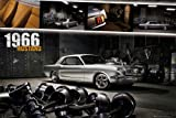 Poster Easton–1966Ford Mustang–moviepostersdirect poster Dimensions 91.5x 61cm (ohne Rahmen)
