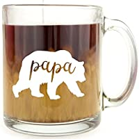 Papa Bear - Glass Coffee Mug by Frog Studio Home