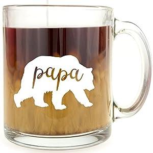 Papa Bear - Glass Coffee Mug by Frog Studio Home