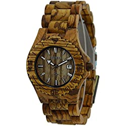 zebra wooden watches made of 100% natural wood, handcraft stylish! With gift box (020C-Z)