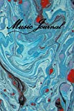 Music Journal: Fine Art Songwriting Journal/Daily Music Diary/ Blank Sheet Music Paperback