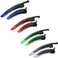 Lovetree bicicletta anteriore posteriore parafango parafanghi set per bici da strada, montagna su plastica con vari colori