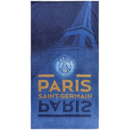 PSG 044213 Drap de Plage Eiffel Coton Bleu 85 x 160 cm
