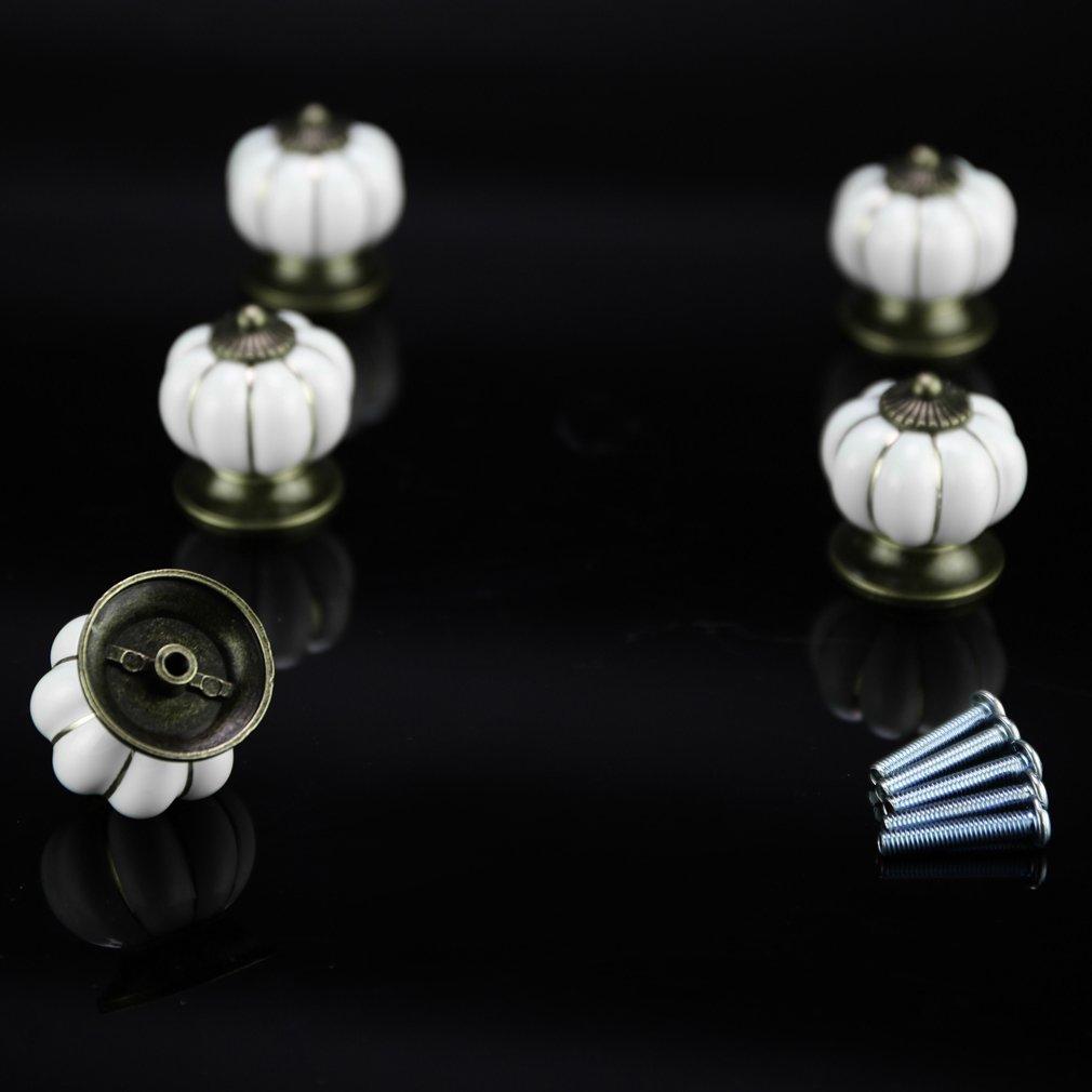 Auralum® 5X Pomelli Cassetti Forma a Palle in Ceramica Pomello ...