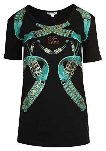 gianfranco-ferre-femme-tee-shirts-manches-courtes-xf7707-noir-noir-m