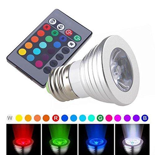 Br30 Dimmbare Cfl (Lanlan Control 3W-e27-sd1RGB Farbwechsel mit Fernbedienung LED Leuchtmittel–Farbe)