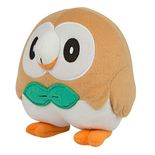 Pokemon Rowlet 8 Inch Plush Toy - Wings Down Rowlet Pose