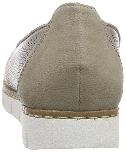 Rieker M1377 Women Loafers, Mocassins femme Gris - Grau (elefant / 43)