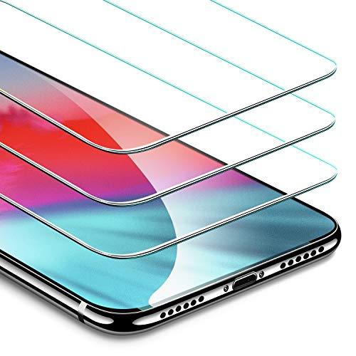 ESR Verre Trempé iPhone XS/X [Lot de 3] [Gabarit de Pose Inclu] [Garantie à Vie], iPhone 10 Film Protection Écran, Vitre Transparente Ultra Claire [2.5D Bord Incurvé] [Dureté 9H Résistant aux Rayures] pour Apple iPhone X/Xs 2018 5,8 Pouces