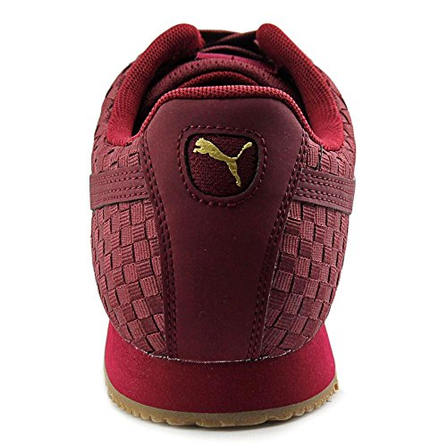 Puma Roma Weave Hommes Toile Baskets Cabernet-Team Gold