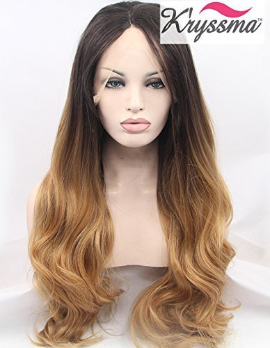 kryssma-natural-looking-ombre-brown-wavy-wig-long-synthetic-hair-lace-front-wigs-for-women-heat-ok-h