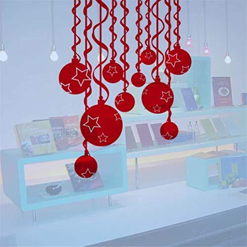Pegatinas De Pared Decoración De La Sala De Estar. Bolas Adhesivas Navideñas Para Ventanas Tiendas Puerta Decorativa