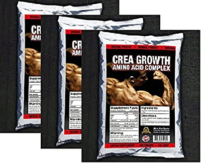 975 TABLETS x CREATINE MONOHYDRATE & ANABOLIC AMINO ACIDS PROTEIN GROWTH PACK - 1st CLASS P&P by BULL ATTACK