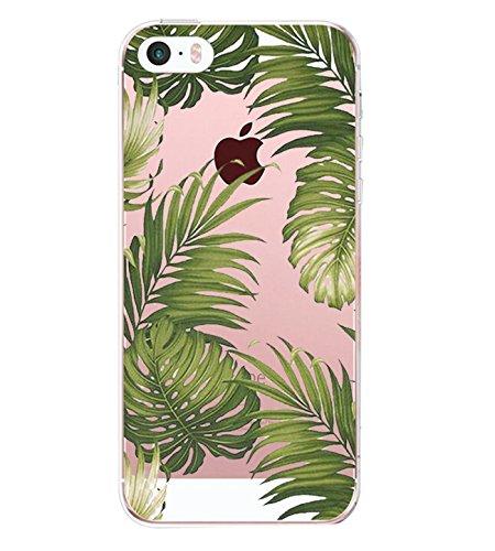 iPhone 5S Coque Pacyer® iPhone SE case Housse Étui Cuir Cover Couverture Fonction Support avec Fermeture Aimantée de Feuille Motif iPhone 5 Coque Bumper Panda Feuille