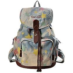 9c22fba01 DGY Moda la mochila de lona y PU cuero Bolsos para mujer Bolsa de Viaje  Mochilas