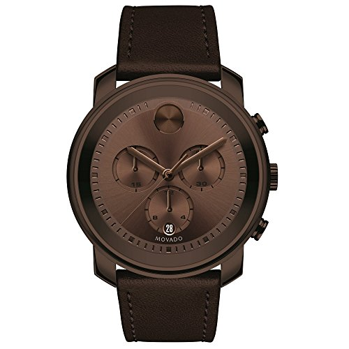 Movado Men's Bold Brown Ion Plate Chronograph Watch 3600420