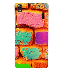 ColourCraft Colourful Bricks Design Back Case Cover for LENOVO A7000 TURBO