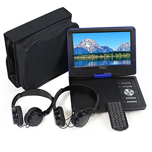 "Blue , 9\ : Cinematix 9"" Portable DVD Player with 6 + Hour battery Life"