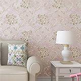 Yesiidor Wandtattoo Blumen Muster Wandaufkleber Wandsticker Schlafzimmer Tapeten Wohnzimmer Dekor Rosa