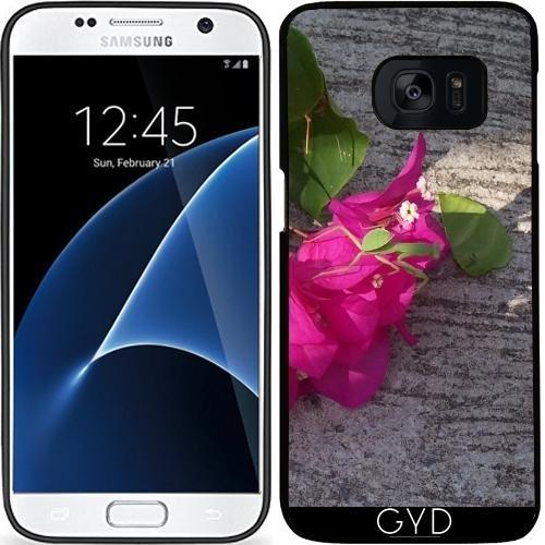 Custodia in silicone per Samsung Galaxy S7 (SM-G930) - Fiore Rosa Asia by Marina Kuchenbecker