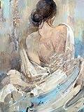 Canvas romantische Hübsche Frau nackt Ölgemälde auf Leinwand / Malerei / Ölgemälde , 60cm*80cm