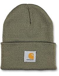 Carhartt Winter Hat with Visor Black CHA164BLK Mens Beanie with peak Hat