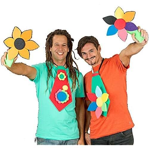 ideas regalos para comuniones kawaii Pack 10 corbatas gomaespuma variadas con flores