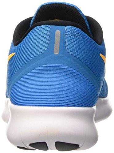 Nike Herren Free Rn Laufschuhe Blau (Bleu Clair/Orange/Blanc)