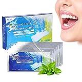 Zahnweiß Streifen White Stripes 28 Stück, professionelle Zähne Bleaching Gel Strip Effektive Zahnpflege-Kit