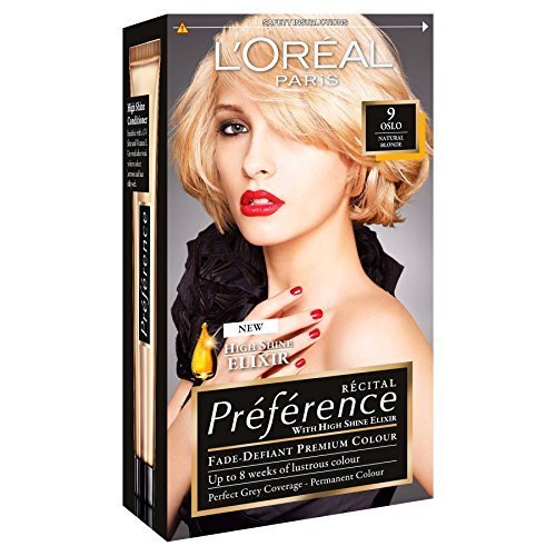3 x loreal paris recital preference permanent colour 9 oslo natural blonde by l - Coloration L Oreal Blond