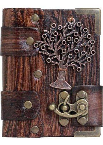 albero-della-vita-ciondolo-marrone-annata-diario-in-pelle-fatto-a-mano-leather-taccuino-sketchbook-n