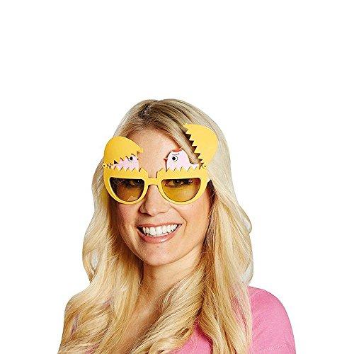 Mottoland Kostüm Zubehör Brille Spaßbrille Ei und Huhn Karneval Fasching Party