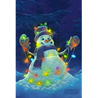 Toland Home Garden Glowman Snowman 12.5 x 45,7 cm decorative usa-produced Small Garden Flag