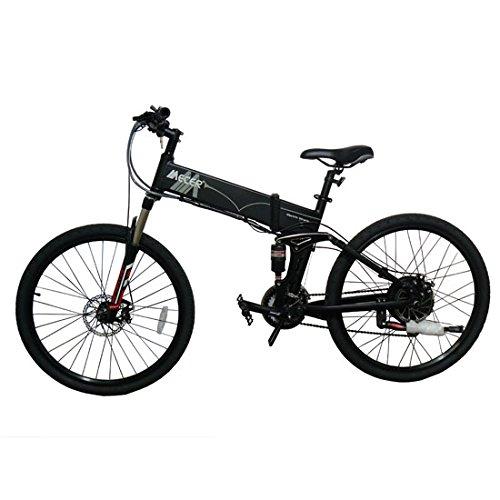 Bicicleta eléctrica plegable Mecer batería 36V 10Ah negro