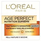 L'Oréal Paris Age Perfect Nutrition Supreme Crema Viso Antirughe Riparatrice Giorno, Pelli Mature Secche, 50 ml
