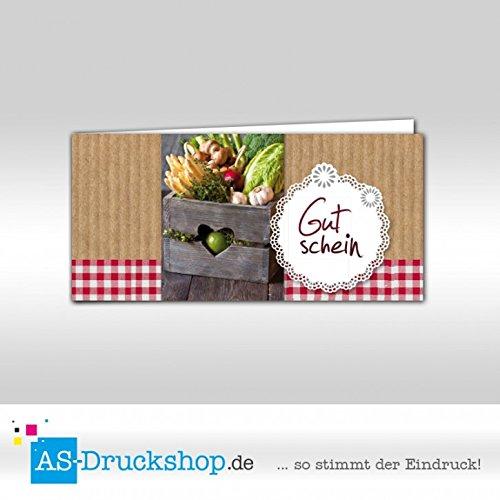Gutschein Hofladen – Gemüse/100 Stück/DIN Lang