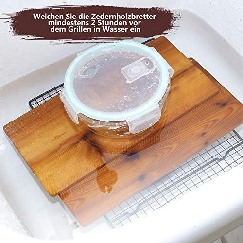 51MzVK2ZqoL - IZIMU Grillbretter,Zedernholzbrett zum Grillen,Räucherbretter aus Zedernholz hergestellt aus 100% natürlichem Red Zedernholz,Grillbretter BBQ (2er Set)