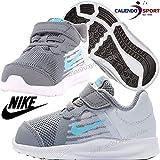 Nike Downshifter 8 (TDV) Scarpe da Atletica Leggera Bambino, Grigio Freddo/Blu/Platino/Bianco (Cool Grey/Blue Fury/Pure Platinum/White 012) 26 EU