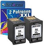 PlatinumSerie 2x Tinten-Patrone für HP 56 XL Black OfficeJet 4100 5610 5610V 5610XI 5615 5110 6110XI 6150 J5520