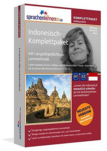Indonesisch-Komplettpaket: Lernstufen A1 bis C2. Fließend Indonesisch lernen mit der...