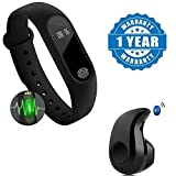 Drumstone Heart Rate Monitor Bluetooth Health Fitness Tracker Smart Band with S530 In-Ear V4.0 Headset for Android Smartphones