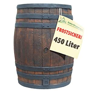 regentonne eichenfass 450 liter wasserfass regenfass wassertonne frostsicher regenwassertonne. Black Bedroom Furniture Sets. Home Design Ideas