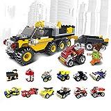 AOTE-D Auto Engineering Truck Feuerwehrauto Racing Pickup Truck Montage Split DIY Anzug 12-Piece Toy Boy Girl Geschenk