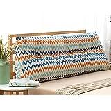 X-L-H Dreieck Bett Rückwand Taille Kissen Baumwolle Und Leinen Weichen Tasche, Abnehmbar Waschbar, Größe 150 * 50 * 22CM (Farbe : 4#, größe : 150cm)