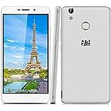 "THL T9 Plus - Smartphone libre 4G (Pantalla 5.5"" FHD, Android 6.0 Quad-core 1.3GHz, 2GB RAM 16GB ROM, Cámaras Duales 2.0 Mp + 8.0 Mp, Dual SIM, Lector de huellas dactilares), Blanco"