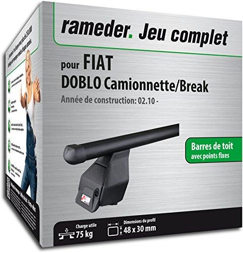Pack Rameder barres de toit Tema pour FIAT DOBLO Camionnette/Break (118848-08618-20-FR)