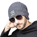 Cappello di moda NNIUK, invernale uomini per uomini o donne in maglia caldo - foderato con la lanuginosa - Ideale per lo sci, l'arrampicata, il ciclismo