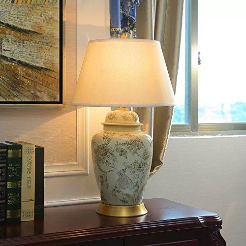 FDH Der Kopf der Tabelle Lampen Keramik Schlafzimmer Stoffen und gemütliche Einrichtung im minimalistischen Stil Lampen, 40 * 64 cm Wohnzimmer - 64 Tabelle Lampe