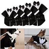 Kungfu Mall-Appendiabiti a forma di gatto, motivo: cucciolo di cane papillon, vestiti da matrimonio stile Smoking intero Costume a tutina con guardia, XS